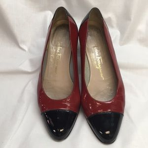 Vintage Salvatore Ferragamo Patent Leather Flats